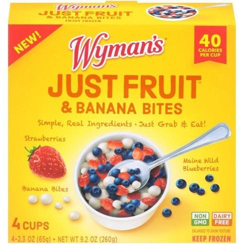 Wyman's Just Fruit Wild Blueberries Strawberries and Banana Bites - 4ct/9.2oz - image 1 of 3