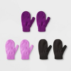 Toddler Girls' 3pk Magic Mittens - Cat & Jack™ One Size
