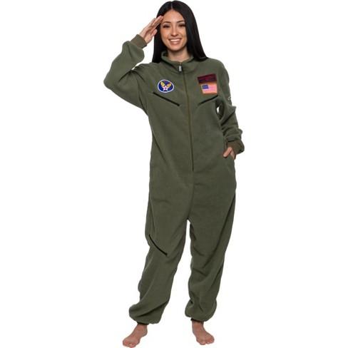 FUNZIEZ! - Fighter Pilot Slim Fit Adult Unisex Novelty Union Suit - image 1 of 4