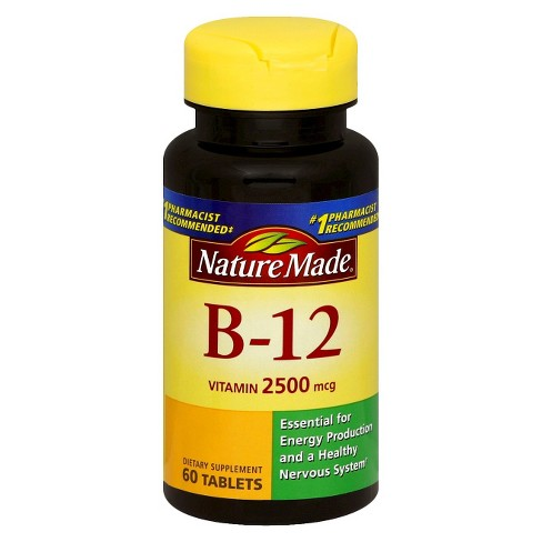 Nature Made Vitamin B-12 Dietary Supplement Tablets - 60ct - image 1 of 1