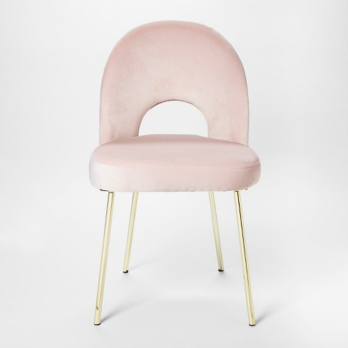 Blush Pink Accent Chairs.Velour Accent Chair Pink Project 62