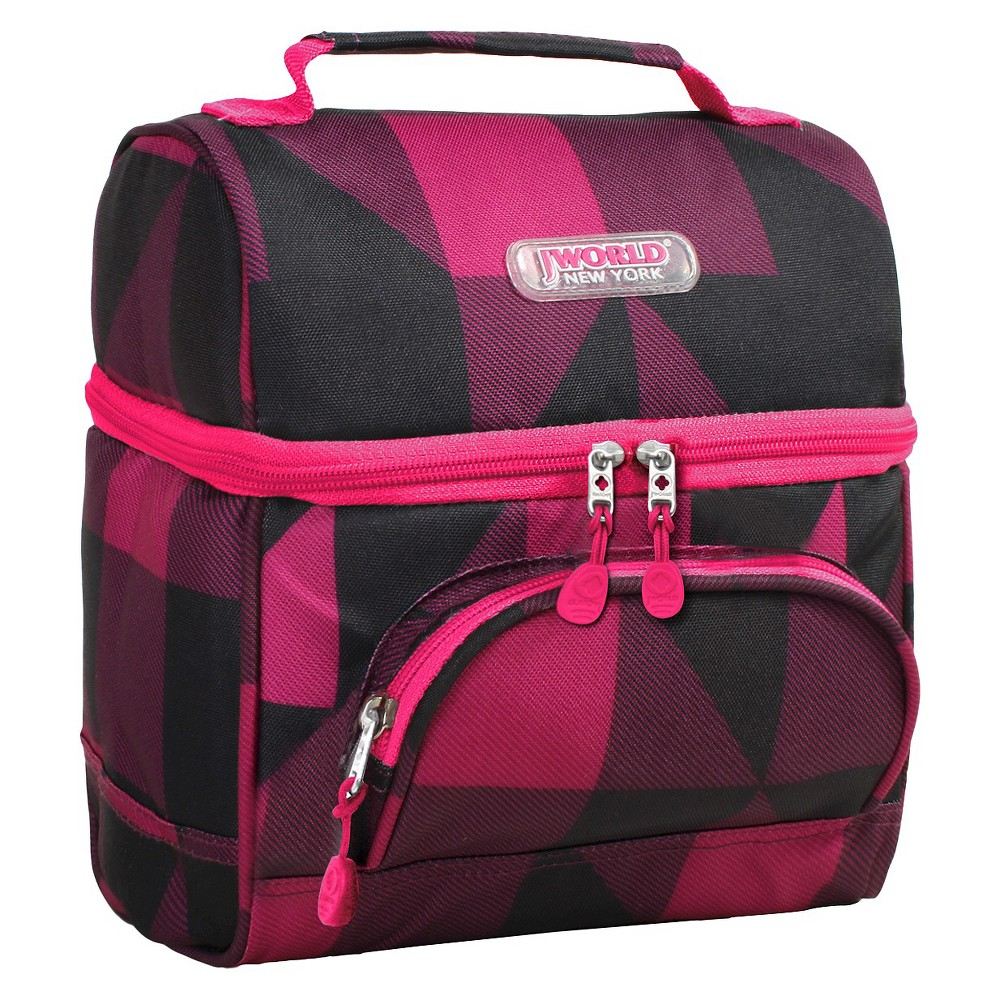 J World Corey Lunch Bag with Front Pocket - Block Pink