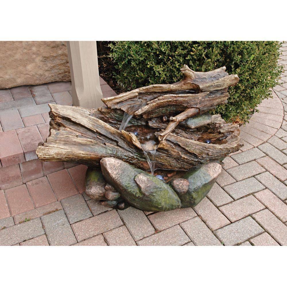 Image of Ridge Point Garden Fountain Sculpture - Acorn Hollow