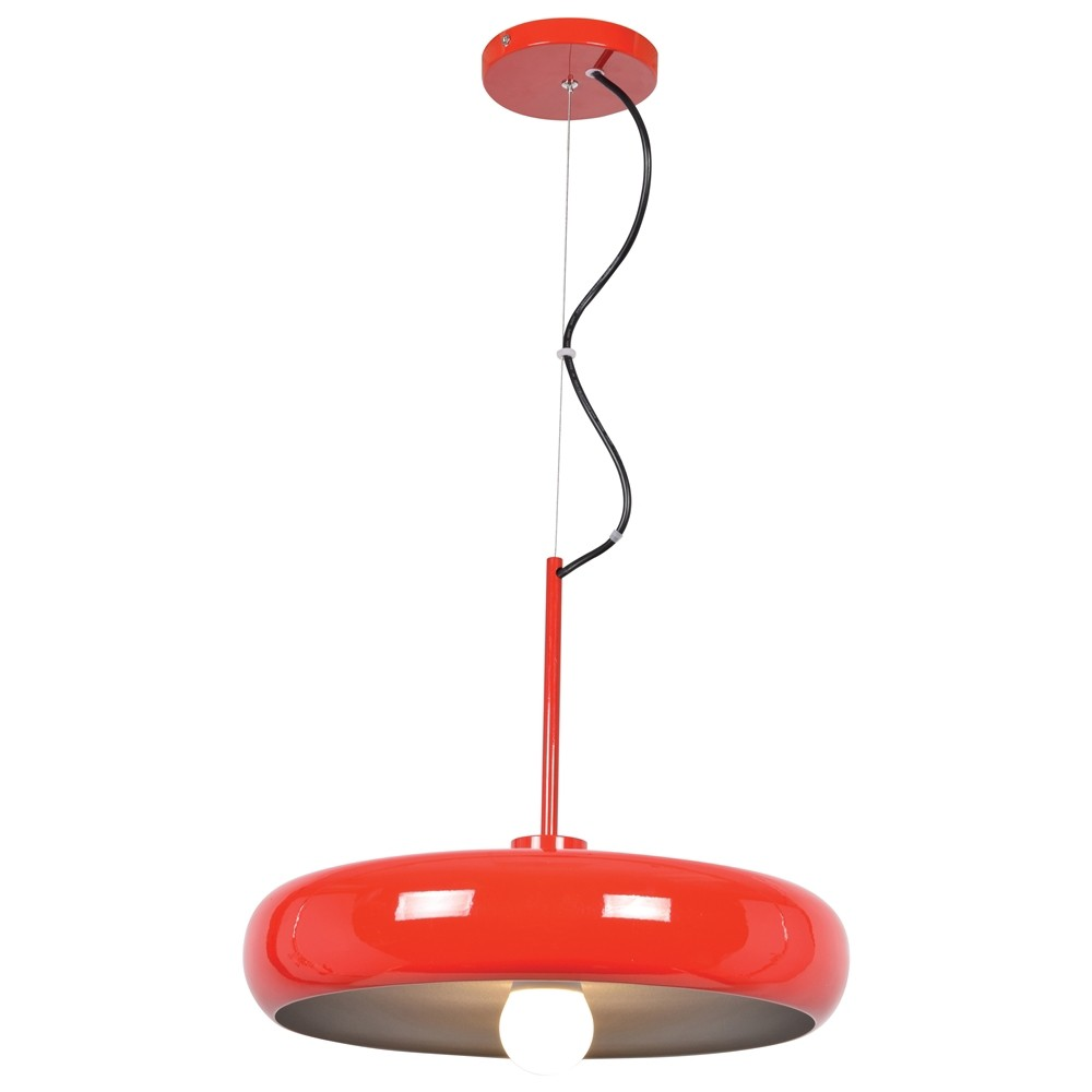 Access Lighting Small Bistro Round Colored Led Pendant with Shade Ceiling Lights Red