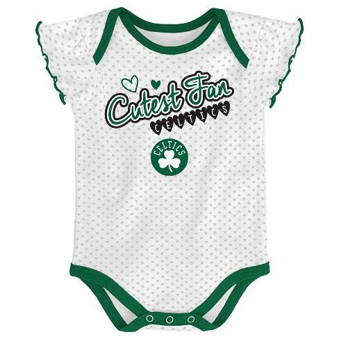 c30cf9ef594 NBA Boston Celtics Girls  Draft Pick 3pk Body Suit Set   Target