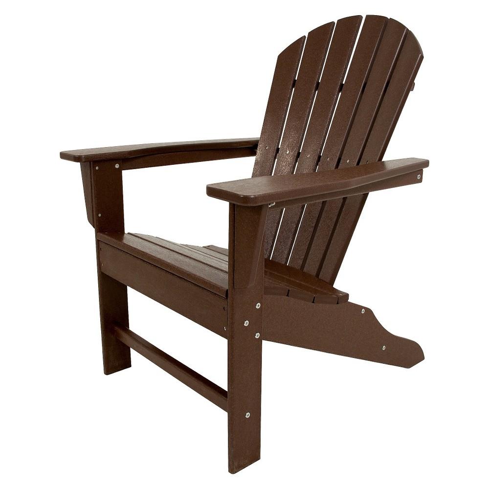Polywood South Beach Patio Adirondack Chair - Mahogany (Brown)
