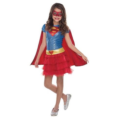Girls' Supergirl Sequin Costume - image 1 of 1