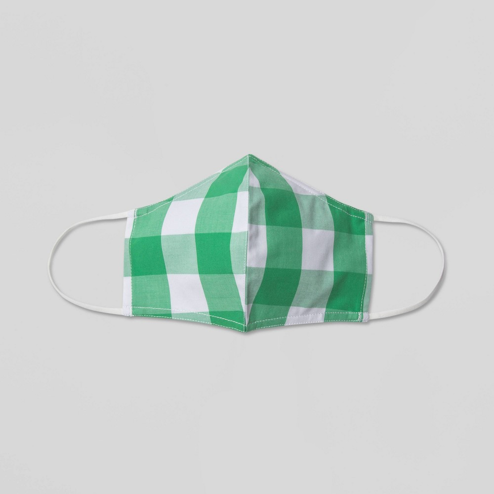 Women 39 S Gingham Print Mask Who What Wear 8482 Green S M