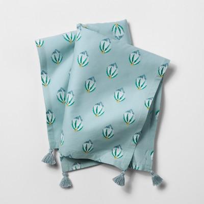 Light Blue Tasseled Napkin - Opalhouse™