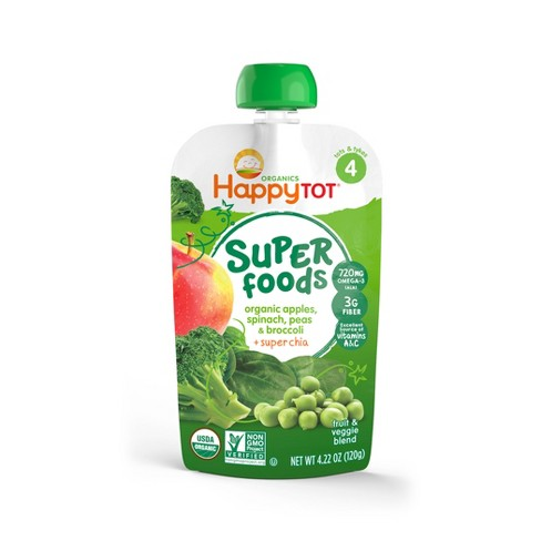 Happy Tot Pureed Baby Food Apples Broccoli - 4.22oz - image 1 of 4