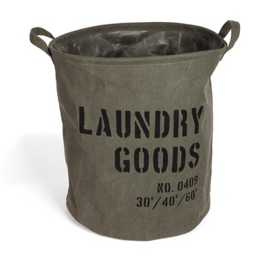 Danya B. Army Canvas Laundry Bucket Dusty Olive