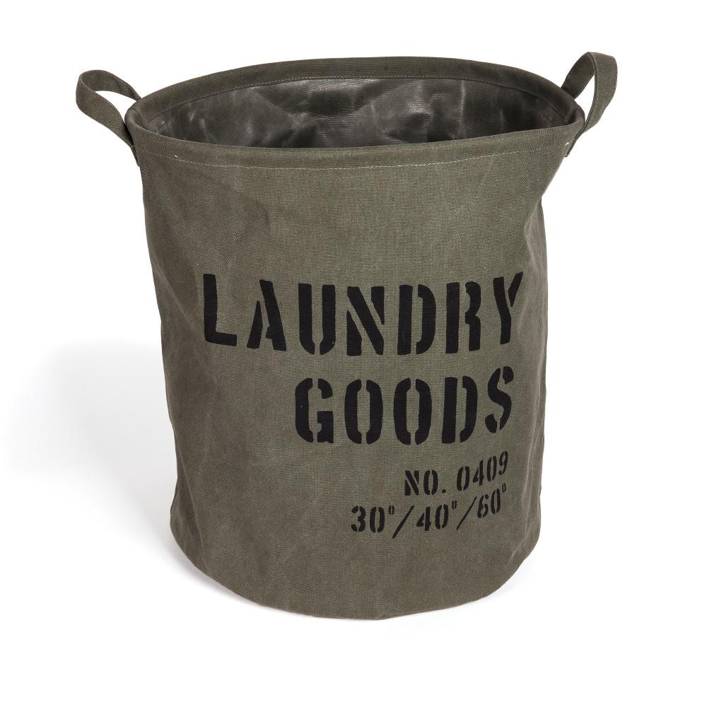 Image of Danya B. Army Canvas Laundry Bucket Dusty Olive