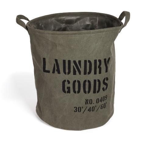 Danya B. Army Canvas Laundry Bucket Dusty Olive - image 1 of 4
