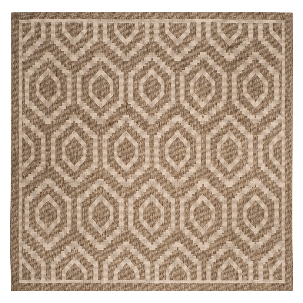 Biarritz Rug 7'10X7'10 - Brown/Bone (Brown/Ivory) - Safavieh