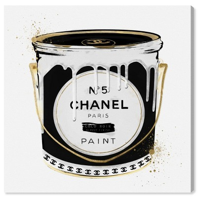 "12"" x 12"" Fashion Paint Noir Fashion and Glam Unframed Canvas Wall Art in Black - Oliver Gal"
