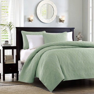 Vancouver Full/Queen 3pc Reversible Coverlet Set Green