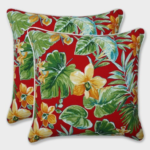 """16.5"""" Beachcrest Poppy Throw Pillows Red - Pillow Perfect - image 1 of 1"""