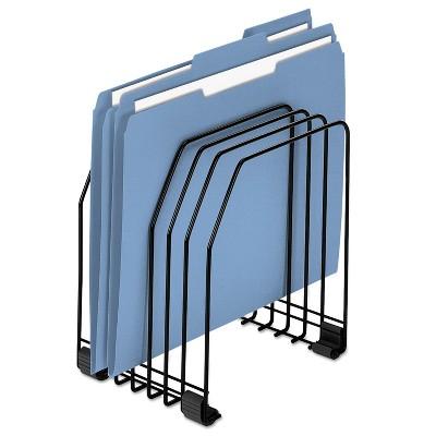 Fellowes Wire File Organizer 7 Comp Steel 7 3/8 x 5 7/8 x 8 1/4 Black 68112