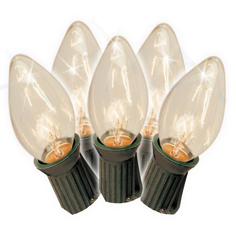 Image of 25ct Clear C7 Old-Fashioned String Lights
