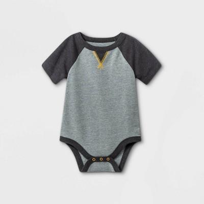 Baby Boys' Short Sleeve Bodysuit with Dorito - Cat & Jack™ Gray Newborn