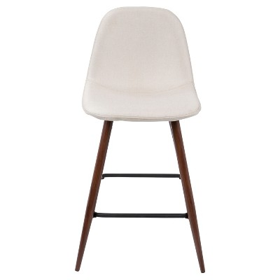"Porter Mid Century Modern 24"" Counter Stool Beige   Lumi Source by Lumi Source"