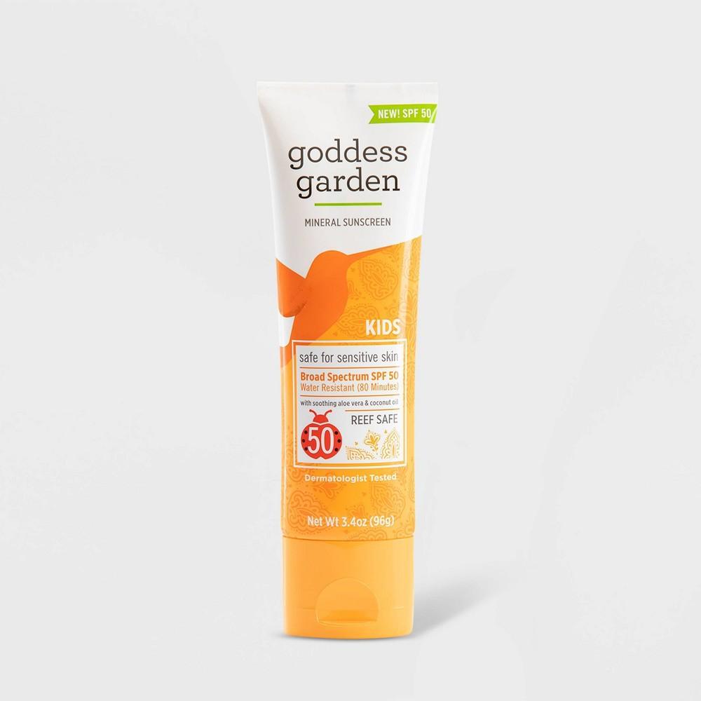 Image of Goddess Garden Kids Natural Sunscreen Tube - SPF 50 - 3.4oz