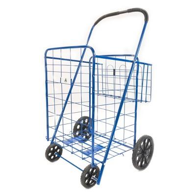 "ATHome 43""X21""X3.5"" Shopping Utility Storage Cart Blue"
