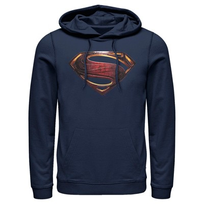 Men's Zack Snyder Justice League Superman Logo Pull Over Hoodie
