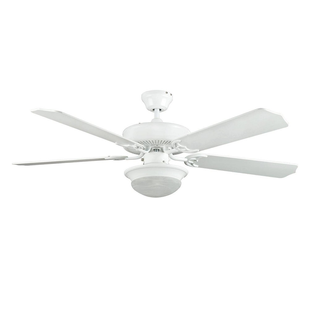 "Image of ""52"""" Heritage Fusion Ceiling Fan White - Concord Fans"""