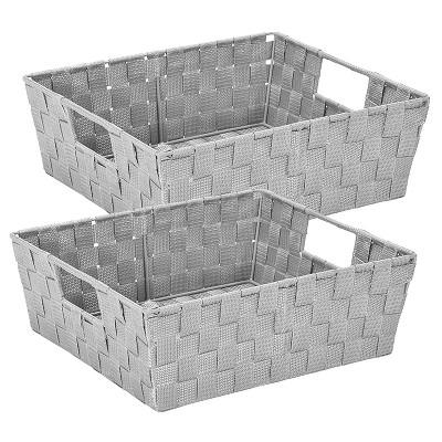 Simplify 2pk Storage Shelf Tote Heather Gray