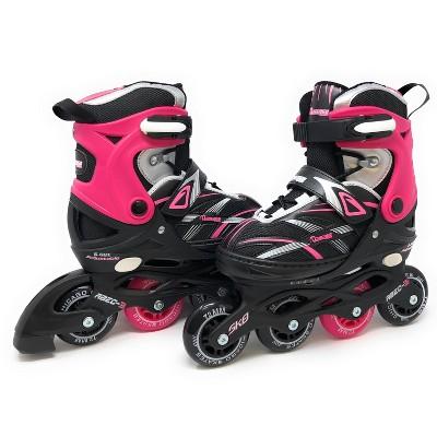 Chicago Skates Adjustable Kids' Inline Skates - Black/Pink