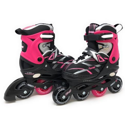 Chicago Skates Adjustable Kids' Inline Skates - Black/Pink - image 1 of 4