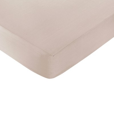 Sweet Jojo Designs Giraffe Fitted Bed Sheet - Taupe