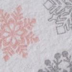 Pink/Gray Snowflakes