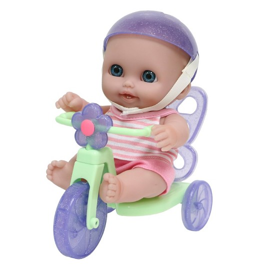 """JC Toys Lil' Cutesies 8.5"""" All Vinyl Baby Doll with Tricycle image number null"""