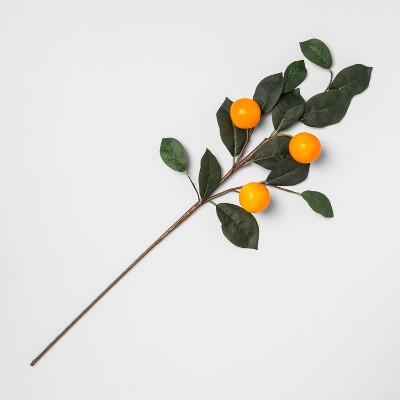 28  Artificial Orange Stem Orange/Green - Opalhouse™