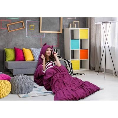 "32""x75"" Frankie Sleeping Bag Purple - Chic Home Design"