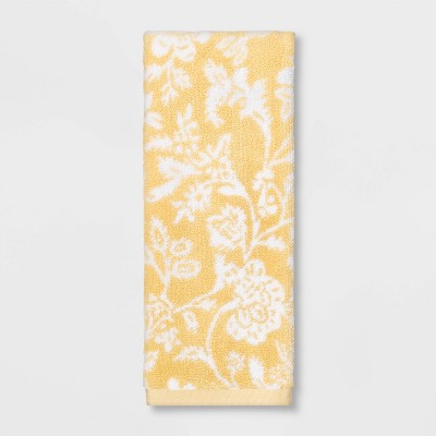 Performance Floral Texture Hand Towel Yellow Floral - Threshold™