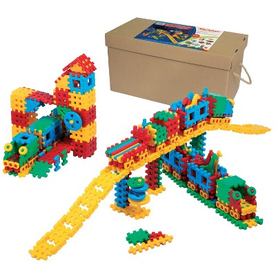 ECR4Kids Big Waffle Blocks Set - Train Station - 433 Piece