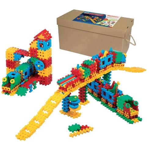 ECR4Kids Train Station Interlocking Waffle Blocks Building Set, STEM Toy for Kids, 433 Piece - Assorted - image 1 of 4
