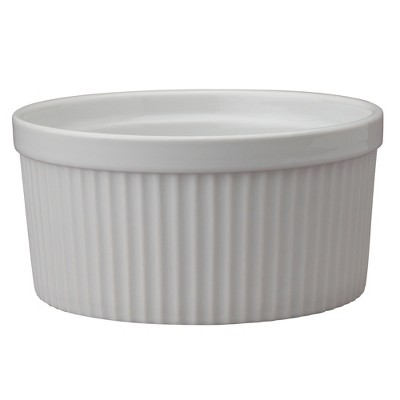 HIC Porcelain 32 Ounce Fluted Souffle Dish