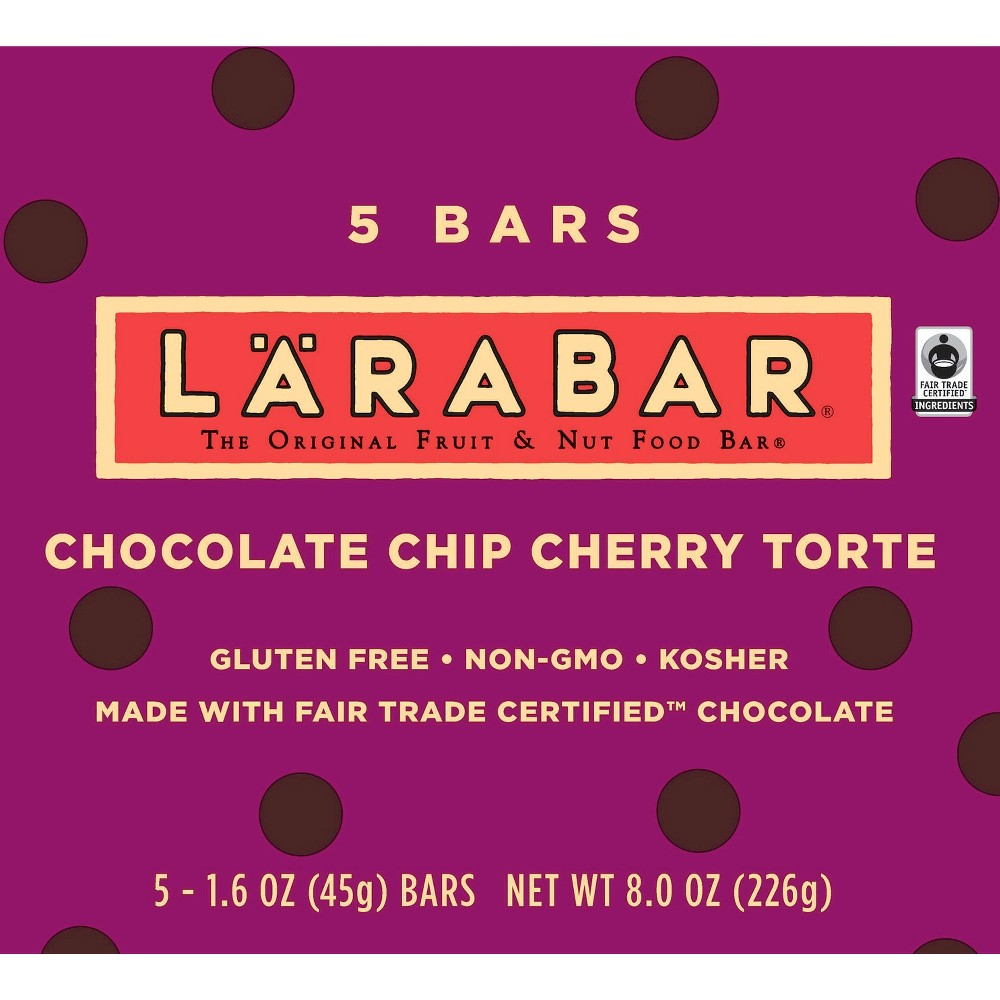 Larabar Fruit and Nut Bar - Chocolate Chip Cherry Torte (5 Bars)