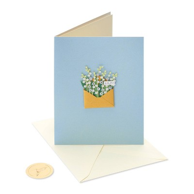 Envelope with Flowers Card - PAPYRUS