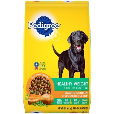 Pedigree Healthy Weight Roasted Chicken & Vegetable Flavor Adult Complete Nutrition Dry Dog Food - 15lbs