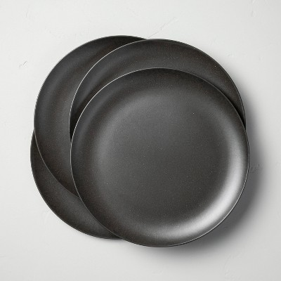 Bamboo Melamine Dinner Plate Solid Dark Gray - Hearth & Hand™ with Magnolia