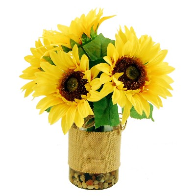Artificial Sunflower Arrangement Yellow 14  - LCG Florals