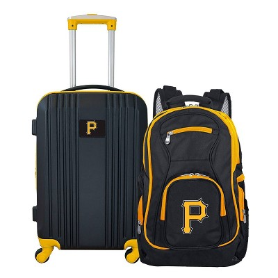 MLB Pittsburgh Pirates 2 Pc Carry On Luggage Set