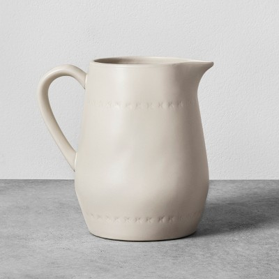 Stoneware Pitcher - Cream - Hearth & Hand™ with Magnolia
