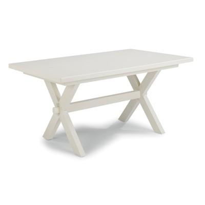 "Seaside Lodge 60"" Rectangular Dining Trestle Table White - Home Styles"