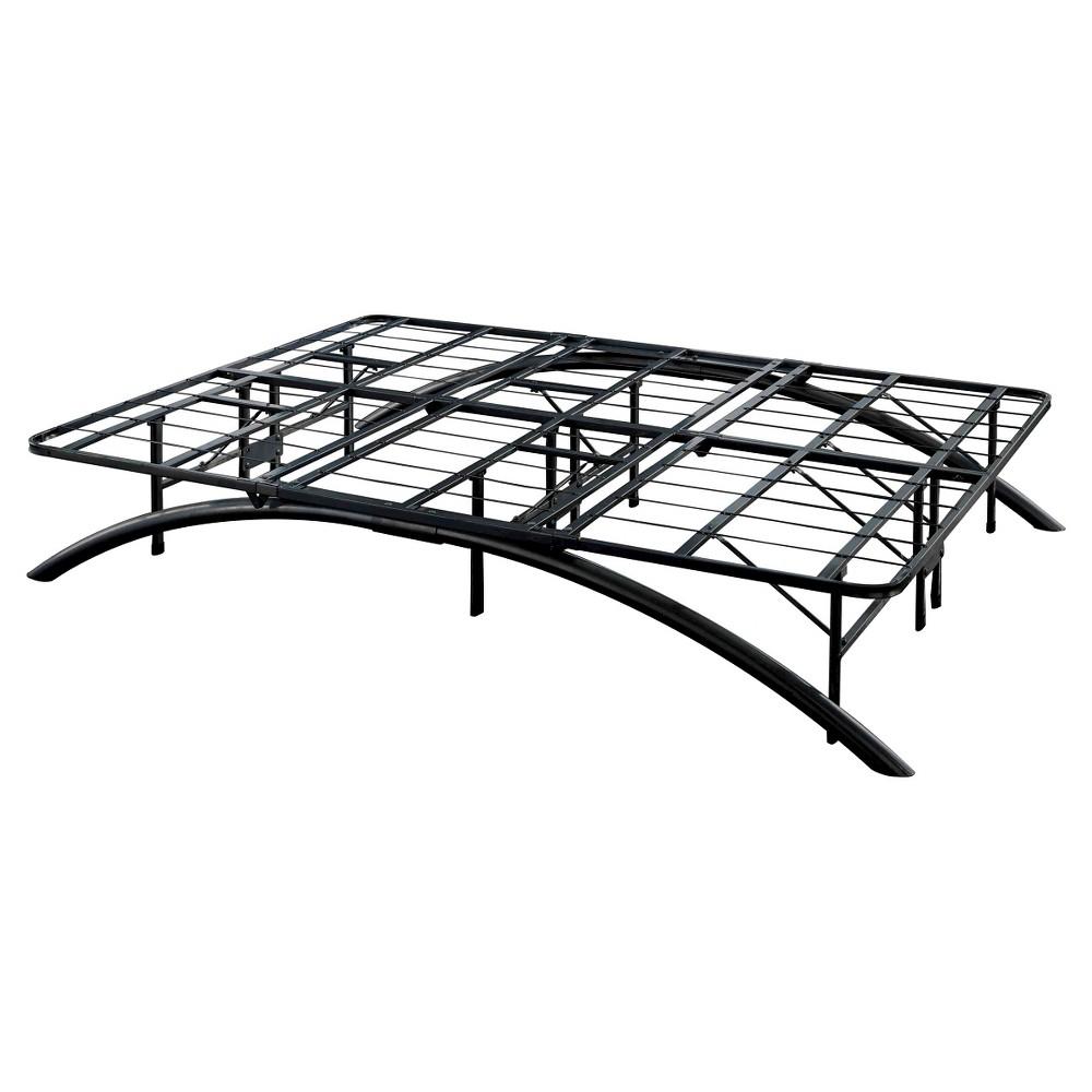 Image of Arch Support Metal Platform Bed Frame Black (King) - Eco Dream